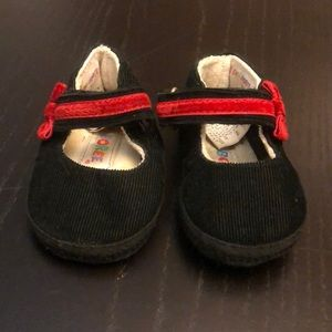 Vintage Gymboree Black Corduroy Red Ribbon Cr…